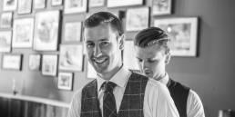 Wedding groom with best man